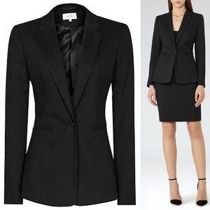 Reiss Dartmouth Textured Jacket Blazer Suit Black